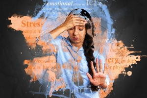 Woman feeling stressed and anxious